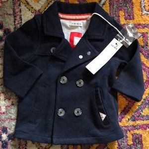 Ikks French brand baby jacket NWT navy 6 months
